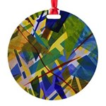 The City I Abstract Round Ornament