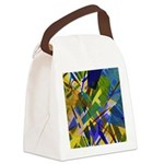 The City I Abstract Canvas Lunch Bag