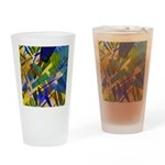 The City I Abstract Drinking Glass