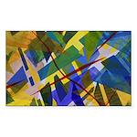 The City I Abstract Sticker (Rectangle 10 pk)