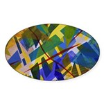The City I Abstract Sticker (Oval)