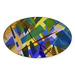 The City I Abstract Sticker (Oval 10 pk)