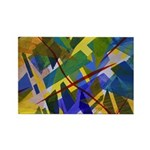 The City I Abstract Rectangle Magnet
