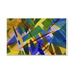 The City I Abstract Car Magnet 20 x 12