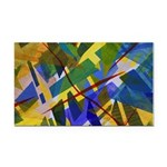 The City I Abstract Rectangle Car Magnet