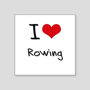 I Love Rowing Sticker