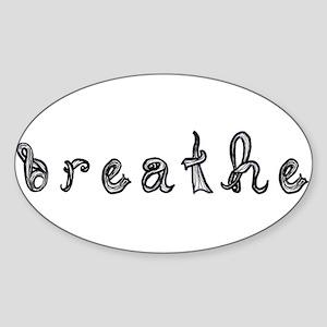 breathe word art sign black fabric font Sticker