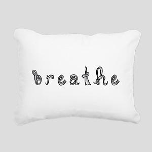 breathe word art sign black fabric font Rectangula