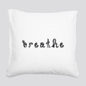 breathe word art sign black fabric font Square Can