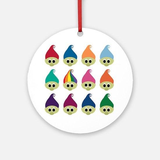 Troll Army Rainbow Ornament (Round)