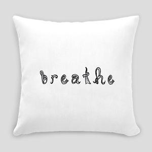 breathe word art sign black fabric font Everyday P