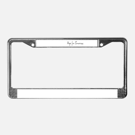CF Hope License Plate Frame
