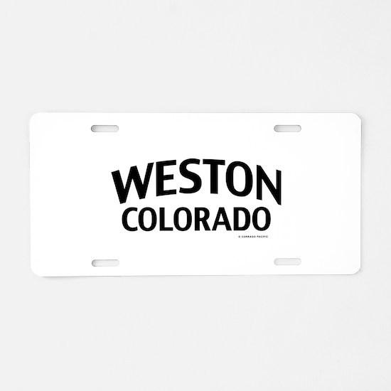 Weston Colorado Aluminum License Plate