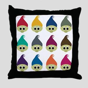 Troll Army Throw Pillow