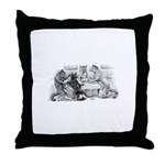 Poker Playing Cats Throw Pillow