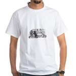 Poker Playing Cats White T-Shirt