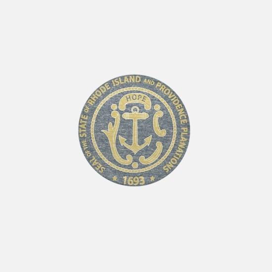 Vintage Rhode Island Seal Mini Button