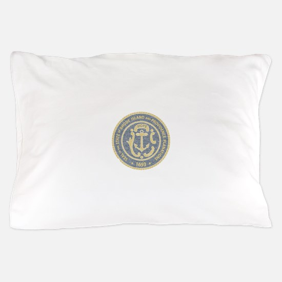 Vintage Rhode Island Seal Pillow Case