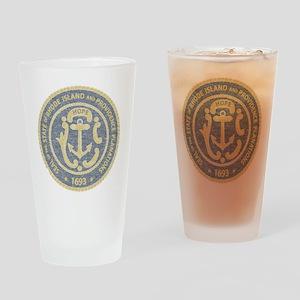 Vintage Rhode Island Seal Drinking Glass