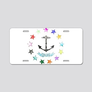 Rhode Island Rainbow Seal Aluminum License Plate