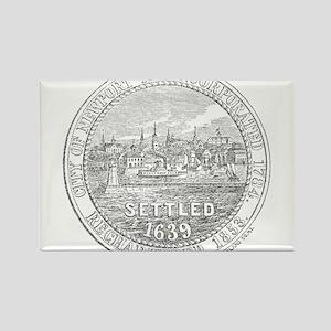 Newport Rhode Island Vintage Seal Rectangle Magnet