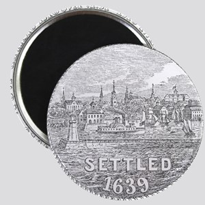 Newport Rhode Island Vintage Seal Magnet