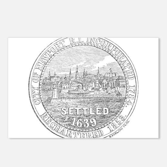 Newport Rhode Island Vintage Seal Postcards (Packa