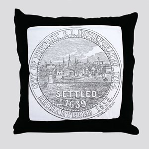 Newport Rhode Island Vintage Seal Throw Pillow