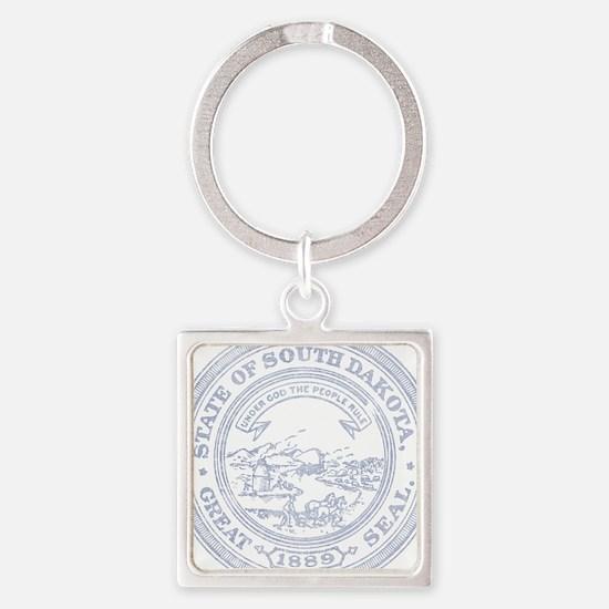 Blue South Dakota State Seal Keychains