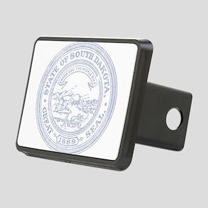 Blue South Dakota State Seal Hitch Cover