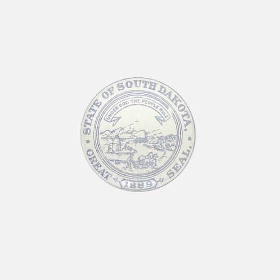 Blue South Dakota State Seal Mini Button