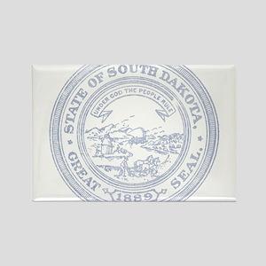Blue South Dakota State Seal Rectangle Magnet