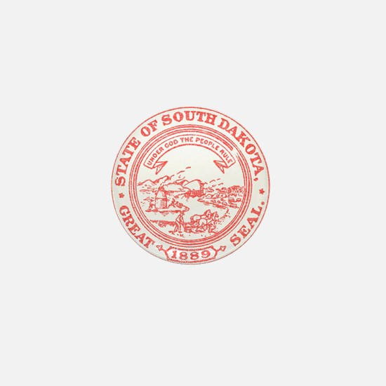 Red South Dakota State Seal Mini Button