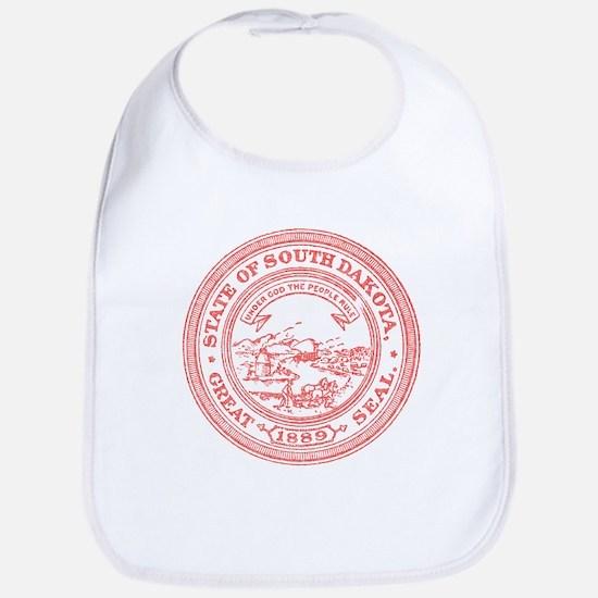 Red South Dakota State Seal Bib