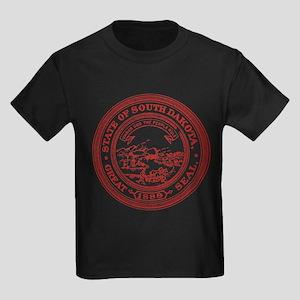 Red South Dakota State Seal T-Shirt
