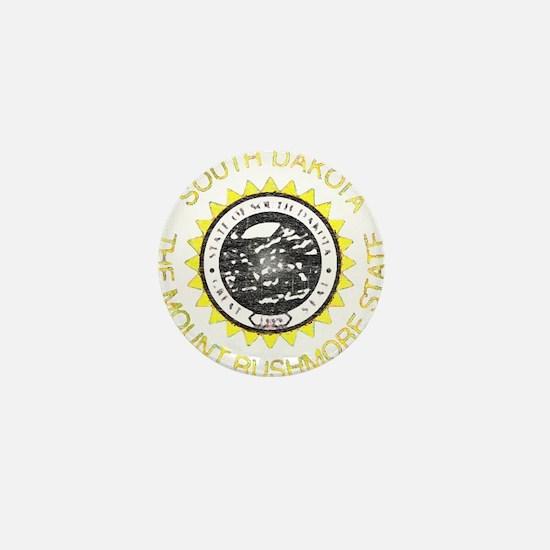 South Dakota Vintage State Flag Mini Button