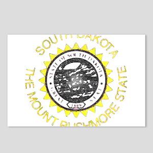 South Dakota Vintage State Flag Postcards (Package