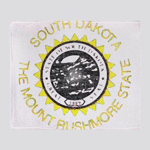 South Dakota Vintage State Flag Throw Blanket