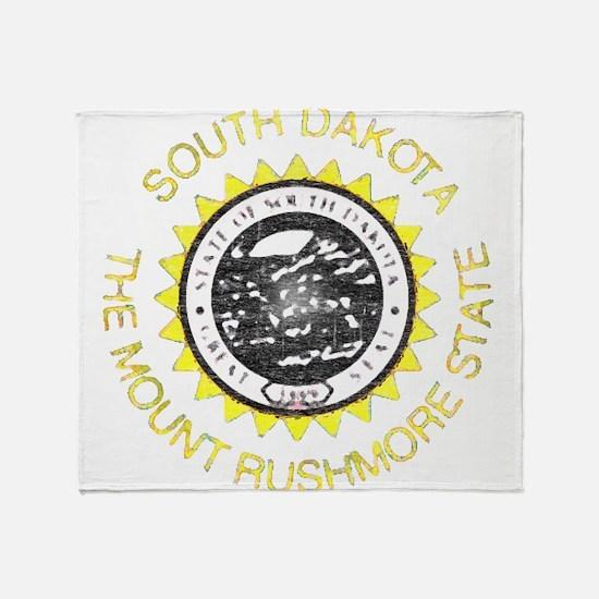 South Dakota Vintage State Flag Throw Blanket