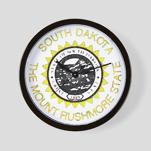 South Dakota Vintage State Flag Wall Clock