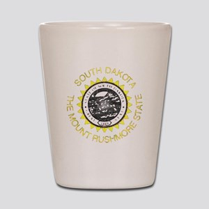 South Dakota Vintage State Flag Shot Glass