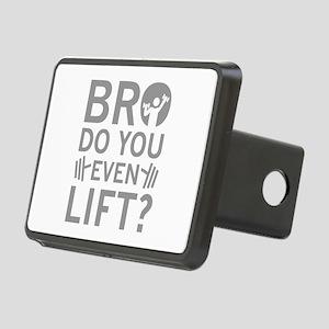 Bro Do You Even Lift? Rectangular Hitch Cover