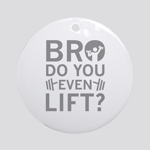 Bro Do You Even Lift? Ornament (Round)
