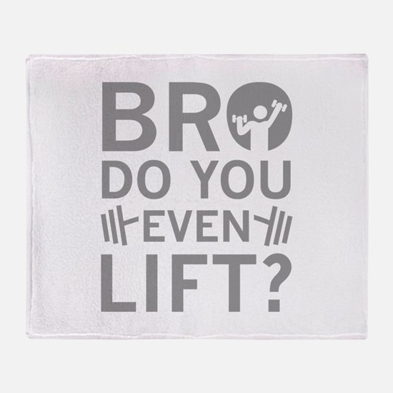 Bro Do You Even Lift? Stadium Blanket
