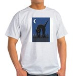 Black Cat Ash Grey T-Shirt