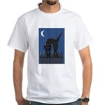Black Cat White T-Shirt