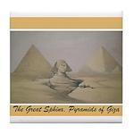 Pyramid of Giza Tile Coaster