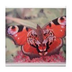 Tiger Butterfly Tile Coaster