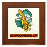 Schrodinger's Cat Framed Tile