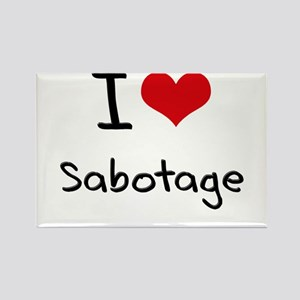I Love Sabotage Rectangle Magnet